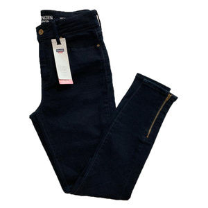 Levi's Denizen High-Rise Zip Ankle Stretchy Jeans